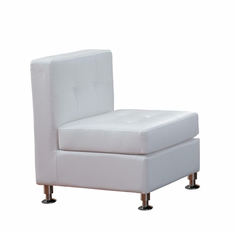 White Armless Lounge Chairs