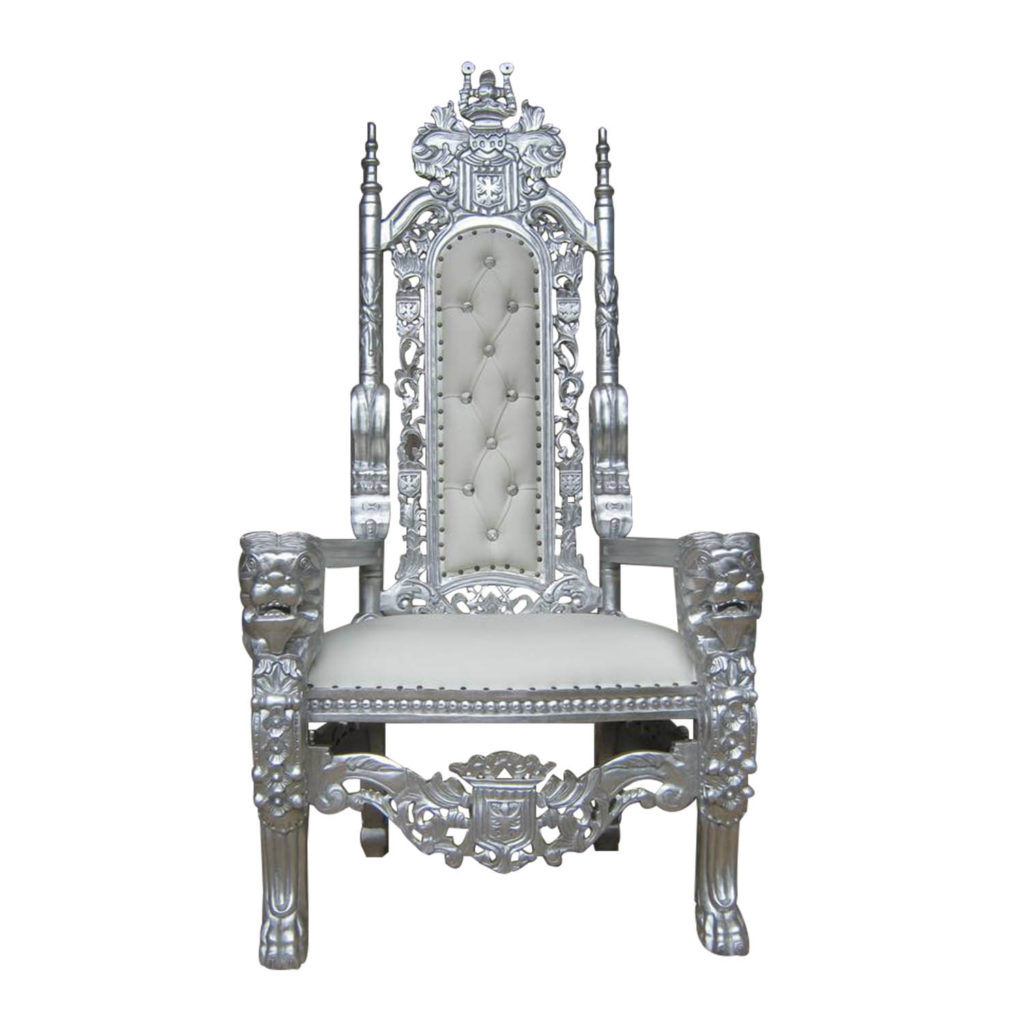 Lion Throne Silver Chairs